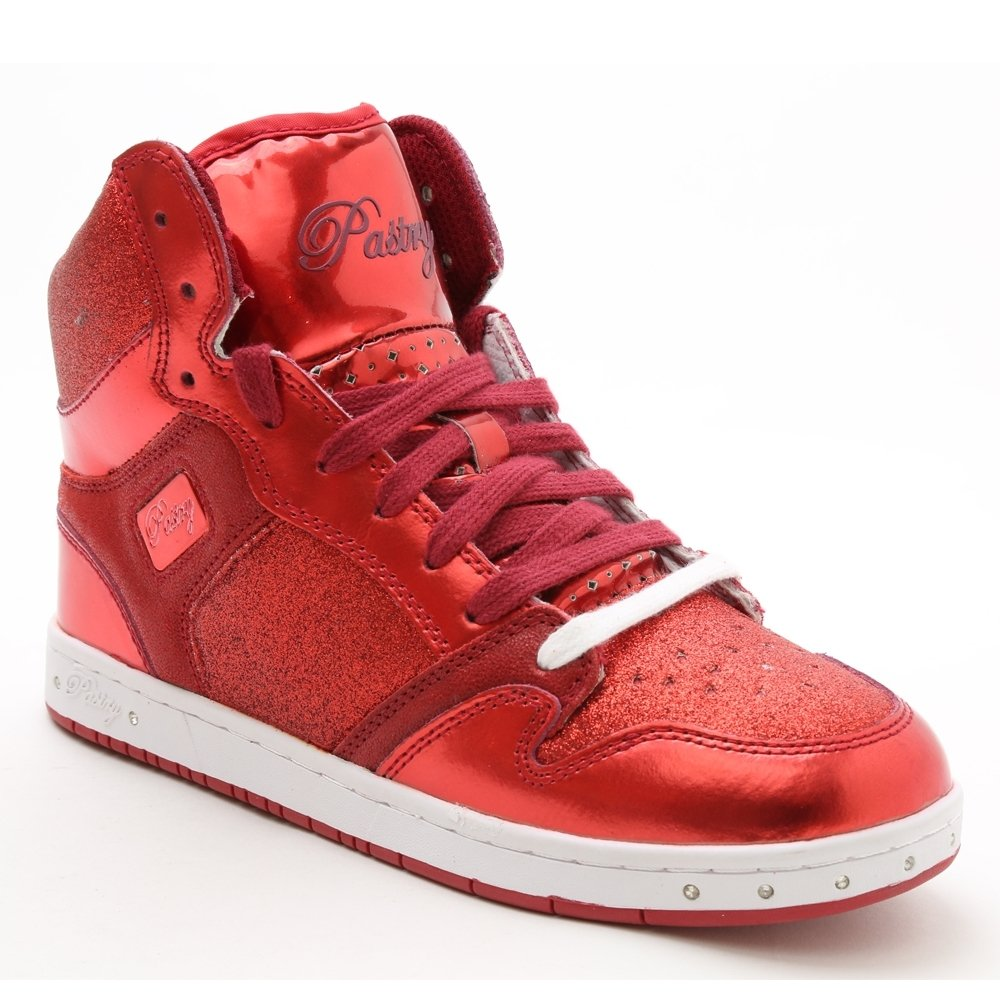 "Pastry Dance Adult ""Glam Pie\"" Glitter Red Sneaker"
