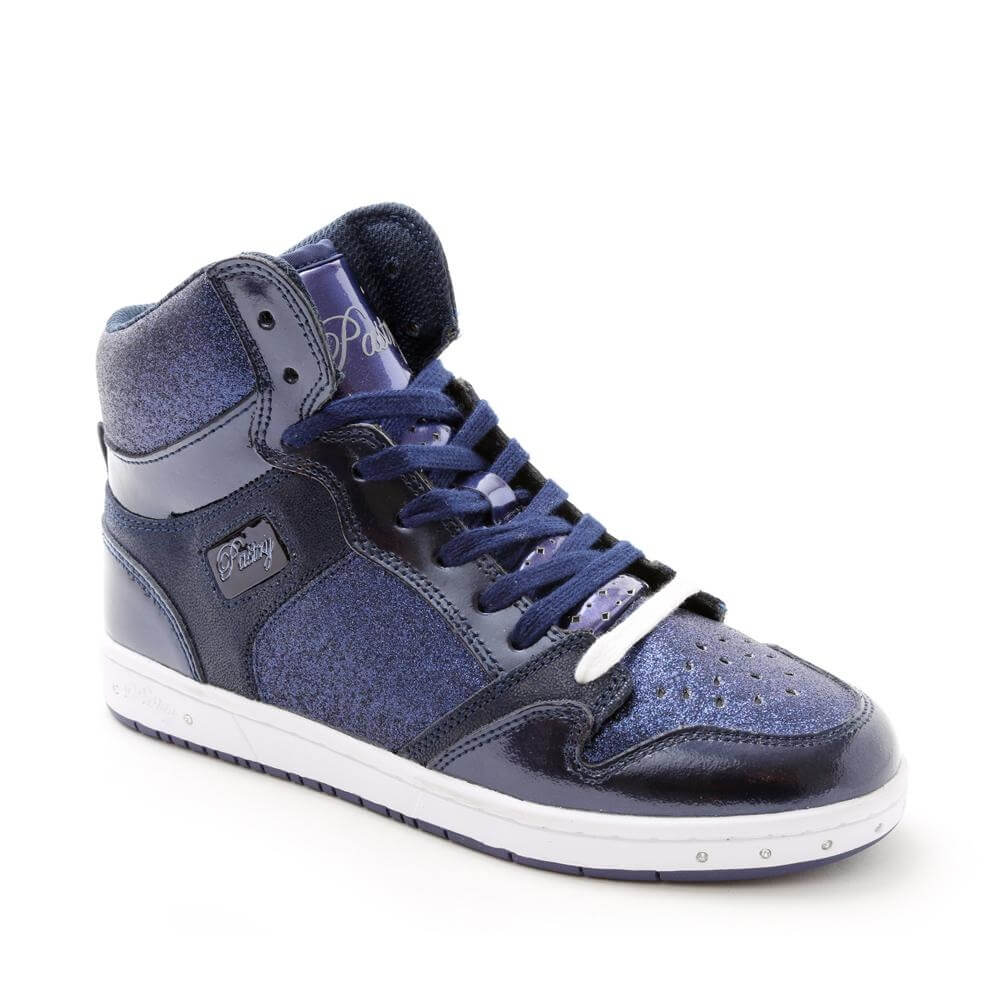 "Pastry Dance Adult ""Glam Pie"" Glitter Navy Sneaker"