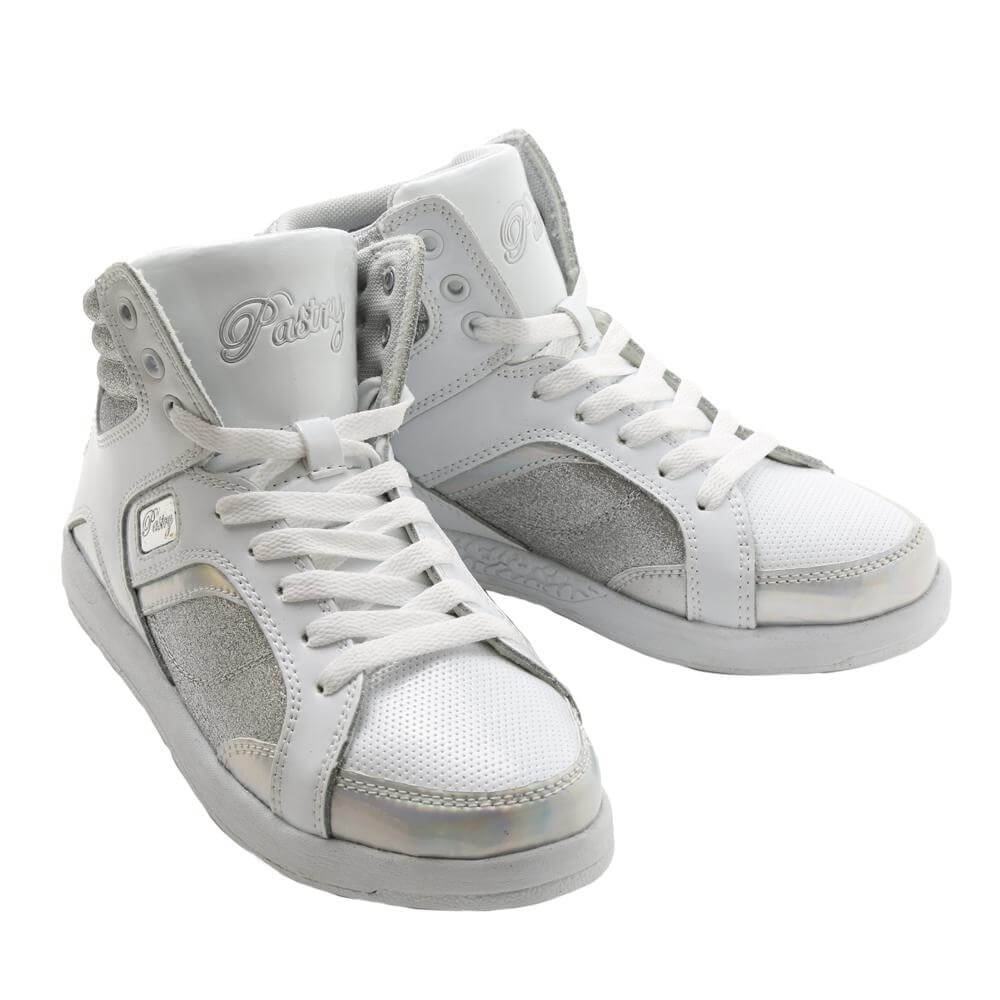 "Pastry Dance Adult ""Sweet Court"" White/Sliver Sneaker"