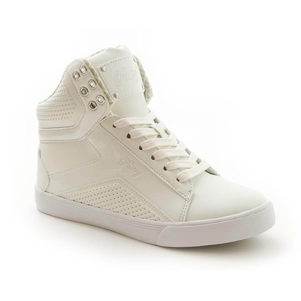 "Pastry Dance Adult ""Pop Tart"" Grid White Sneaker"