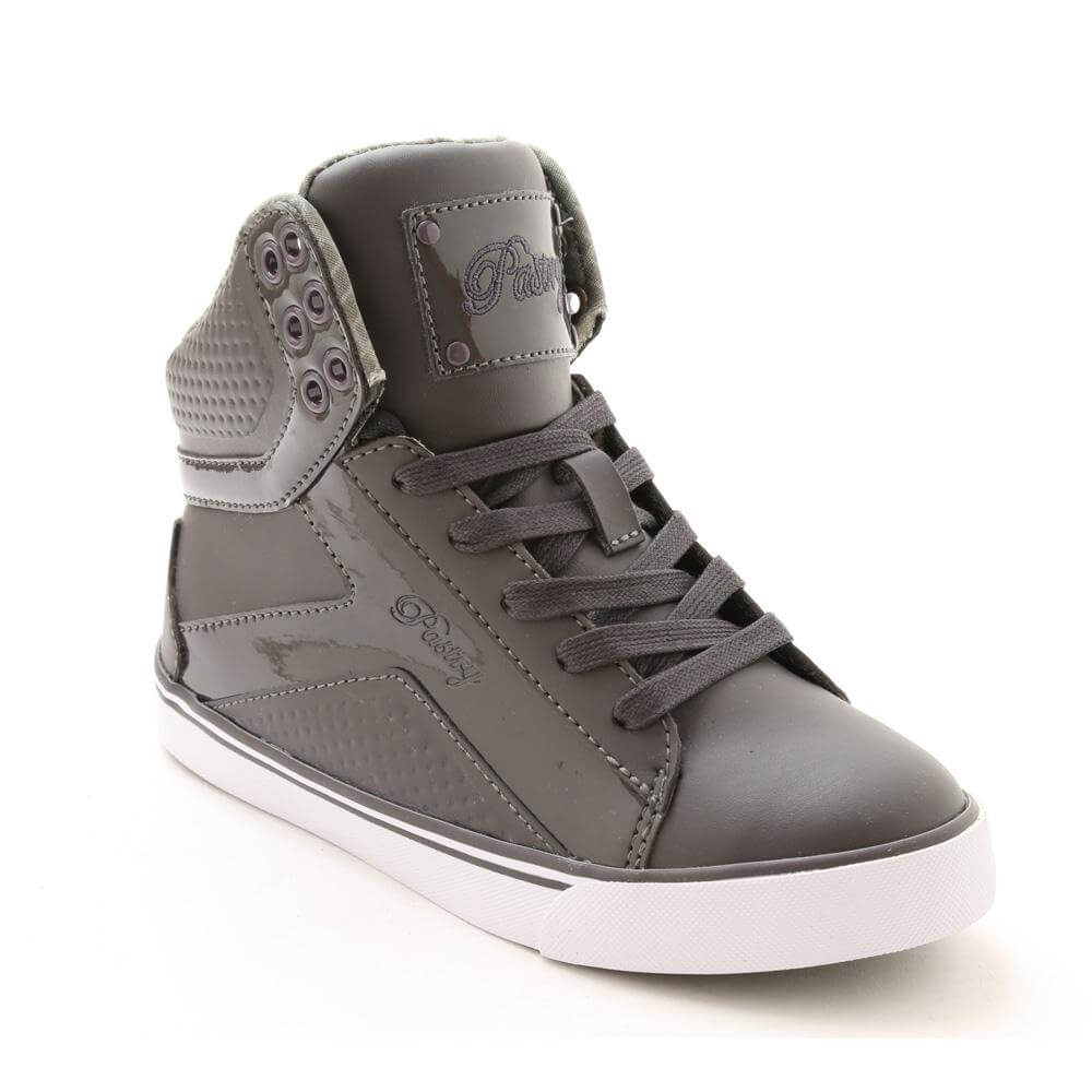 "Pastry Dance Adult ""Pop Tart"" Grid Charcoal Sneaker"