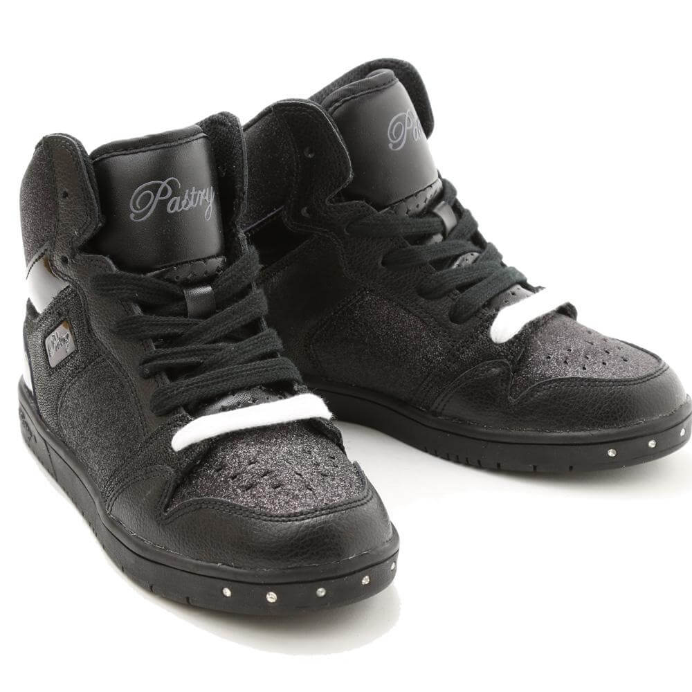 "Pastry Dance Child ""Glam Pie"" Glitter Black/Black Sneaker"