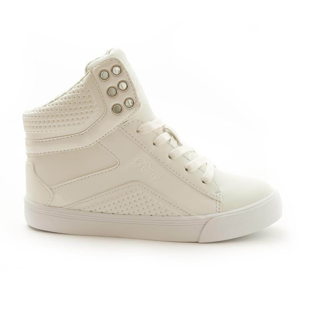 Pastry Pop Tart Grid Girl's White Sneaker