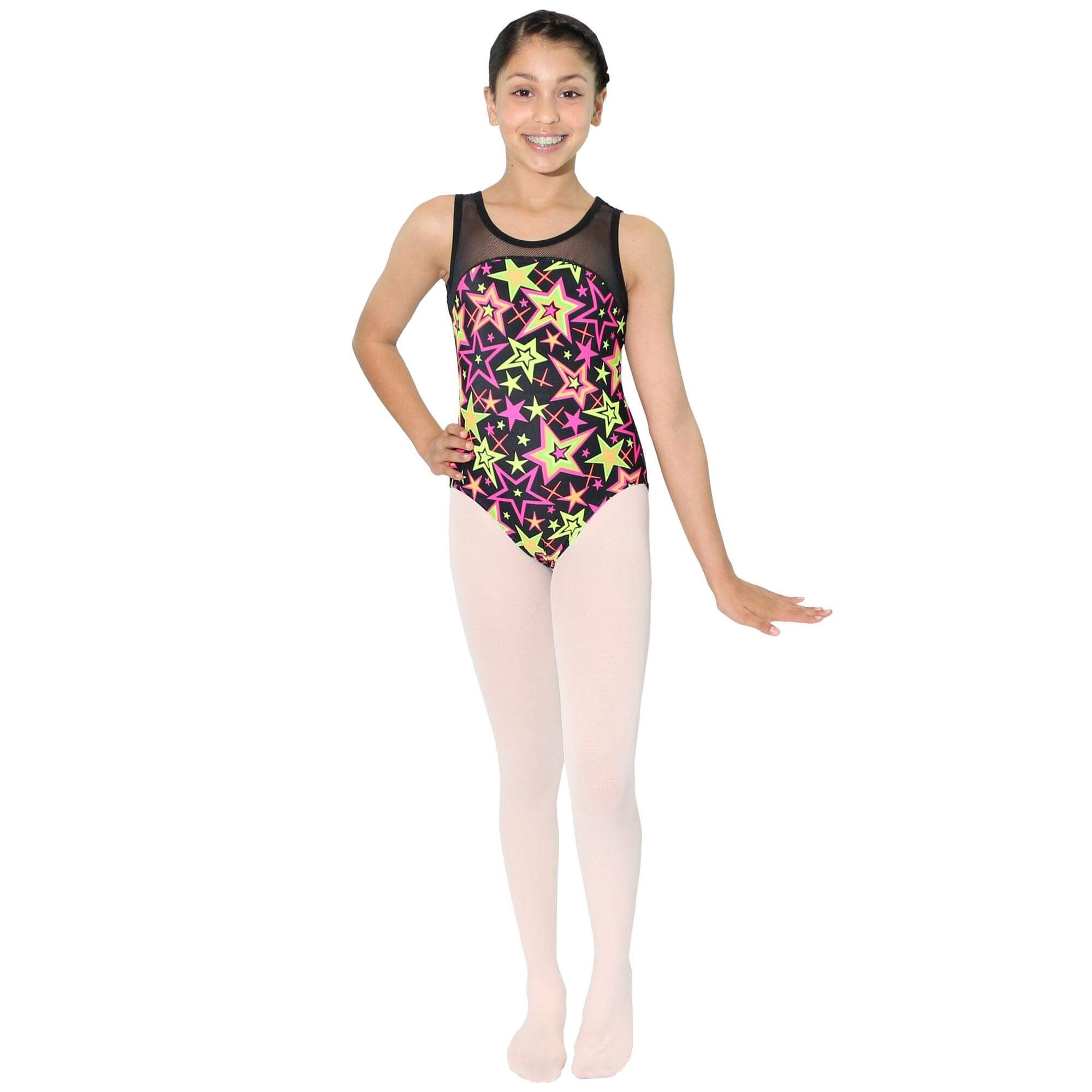 Reflectionz Black Star Leotard - Click Image to Close
