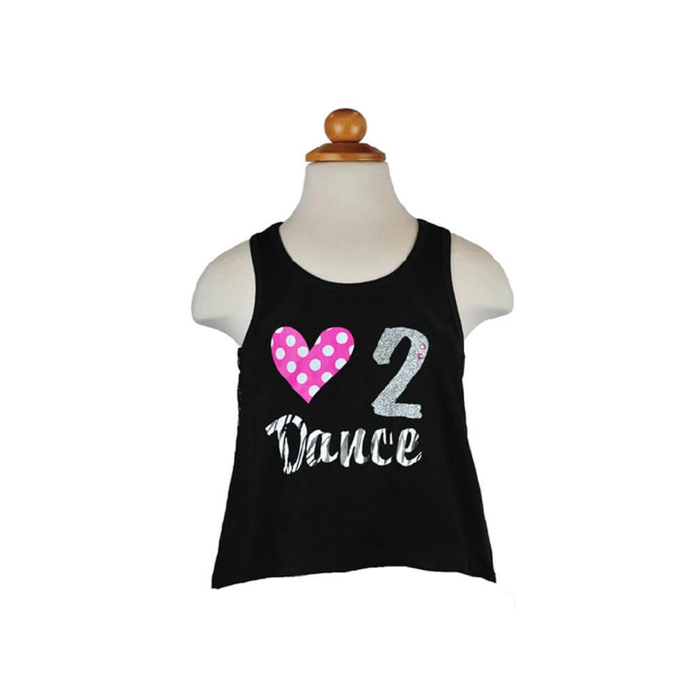 "Reflectionz ""Love 2 Dance"" Lace Tank"