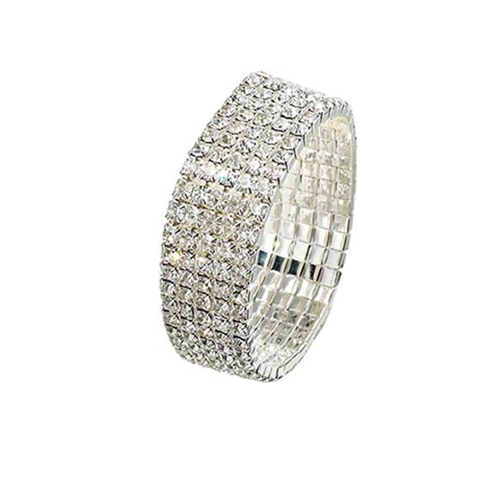 Starlight 5-Row Rhinestone Stretch Bracelet