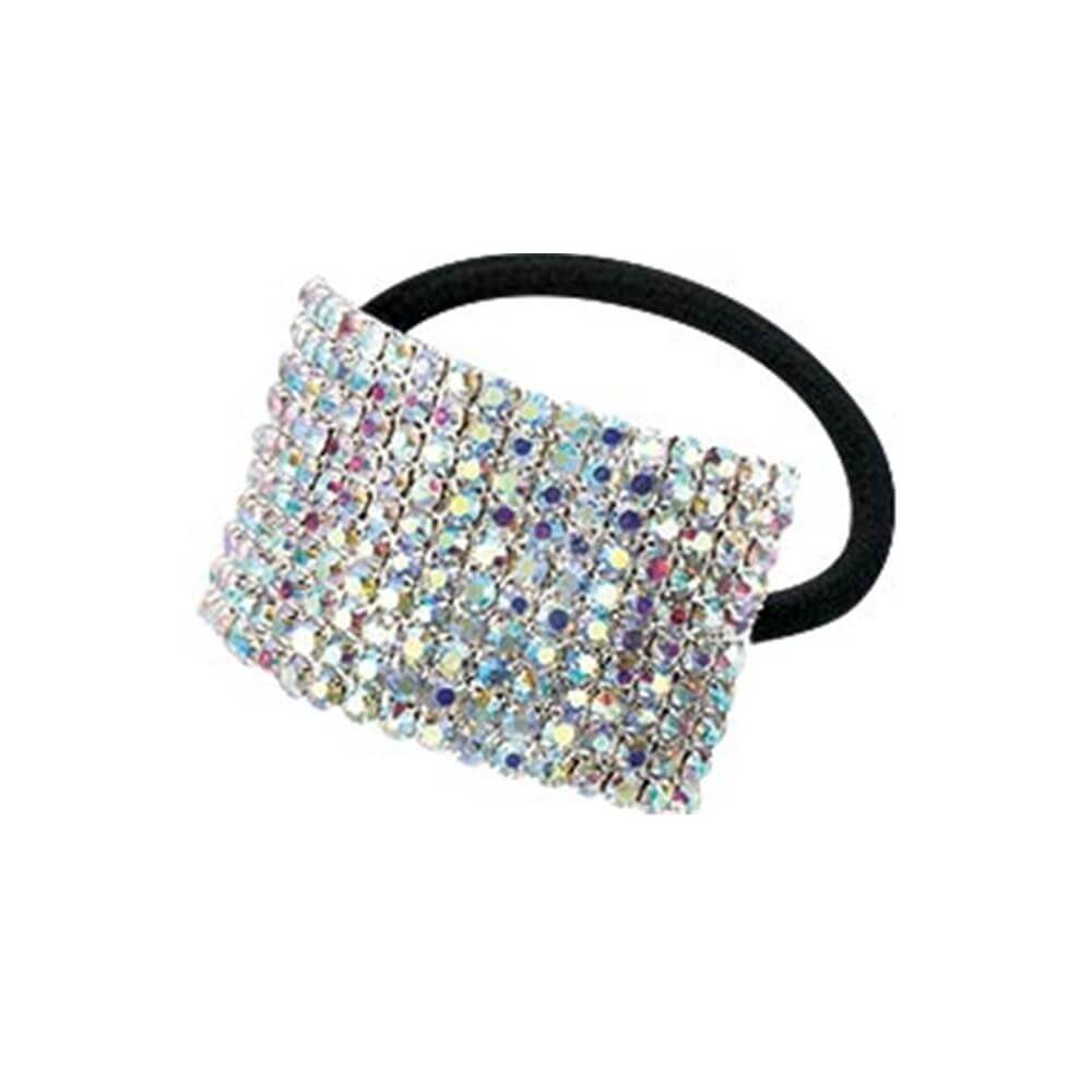 Starlight Large 10-Row Crystal AB Cuff Ponytail Binder