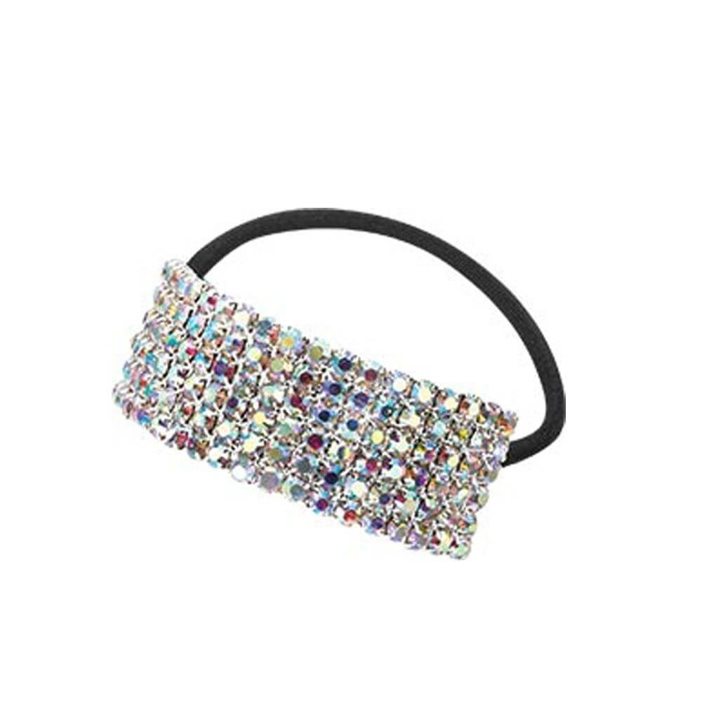 Starlight Small 6-Row Crystal AB Cuff Ponytail Binder