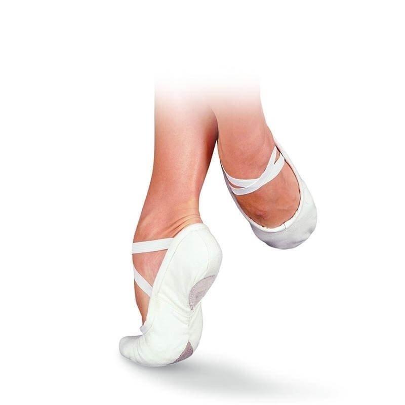 sansha pro 1 1c white canvas ballet slipper sha1c