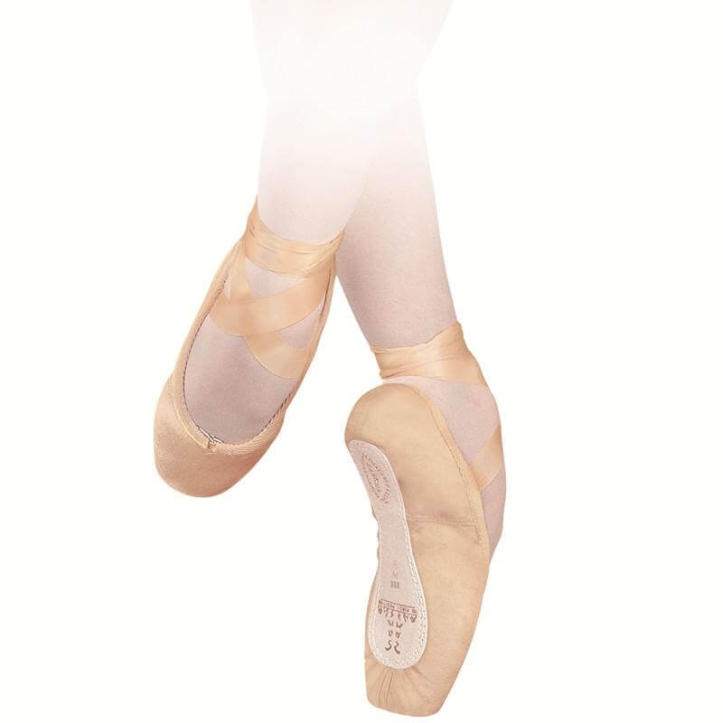 "Sansha ""Recital-Canvas\"" Leather Sole Pointe Shoes"