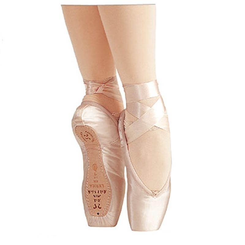 "Sansha ""Lyrica"" Satin Upper Leather Sole Pointe Shoes"