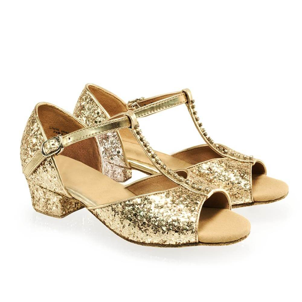 "Sansha Child/Youth ""Alexa"" Glittery Ballroom Shoe"