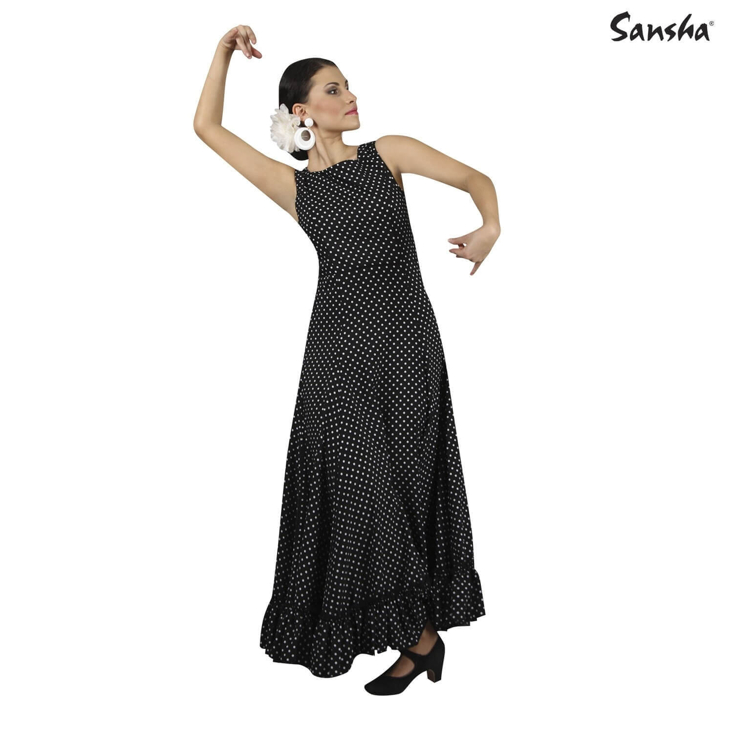 Sansha Sleeveless Flamenco Dress With Ruffles