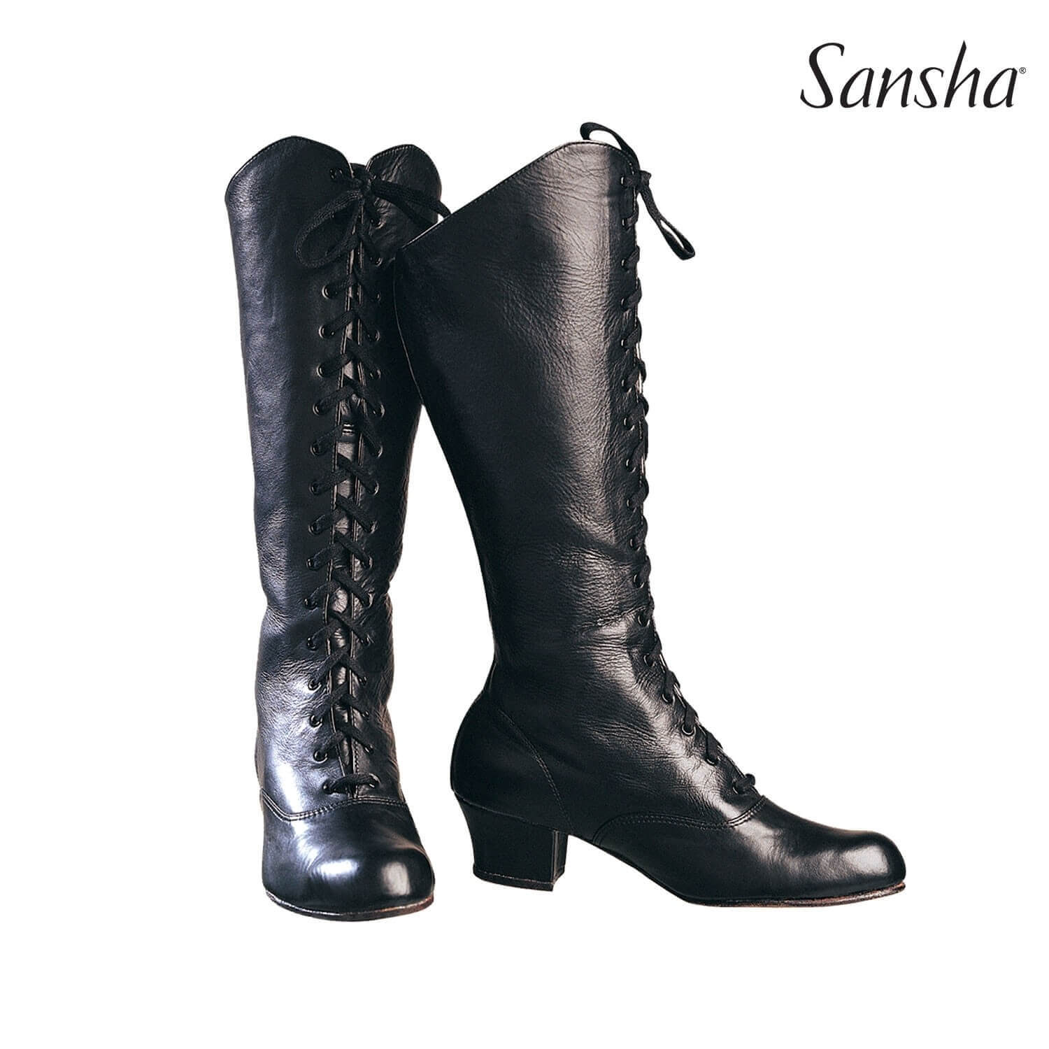 Sansha Leather Can-can Front Lace-up Character Boots