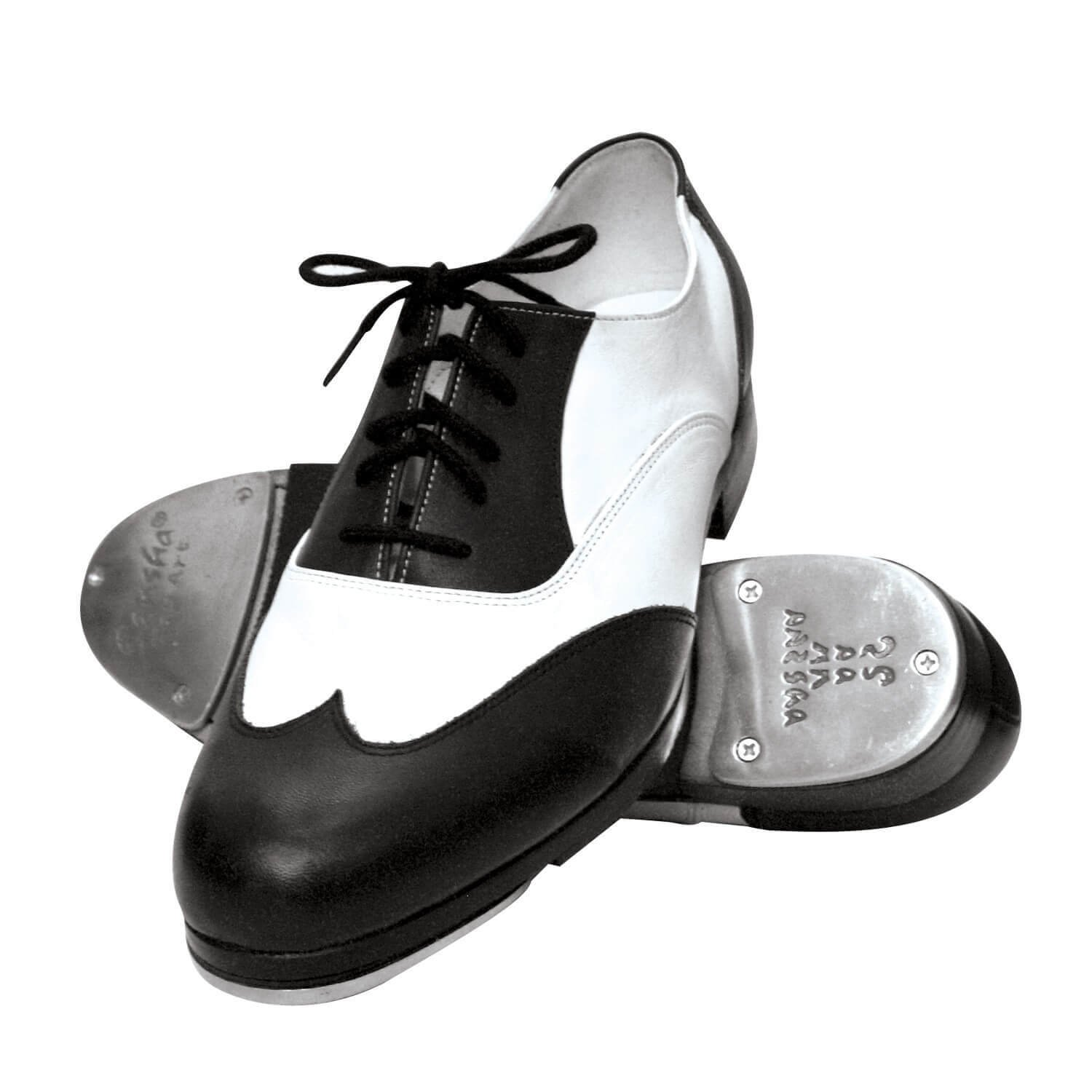 Sansha Leather Two-Tone Tap Shoes