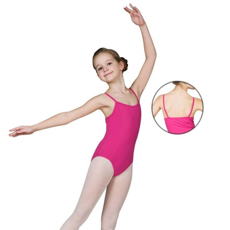 Sansha Child Two Front Princess Seams Cotton Camisole Leotard