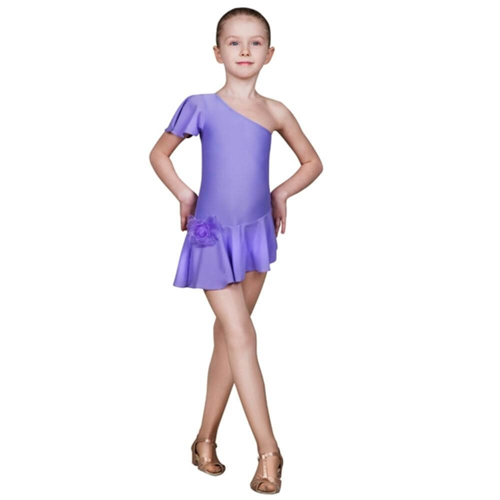 "Sansha Child ""Beckie"" Asymmetric Dress"