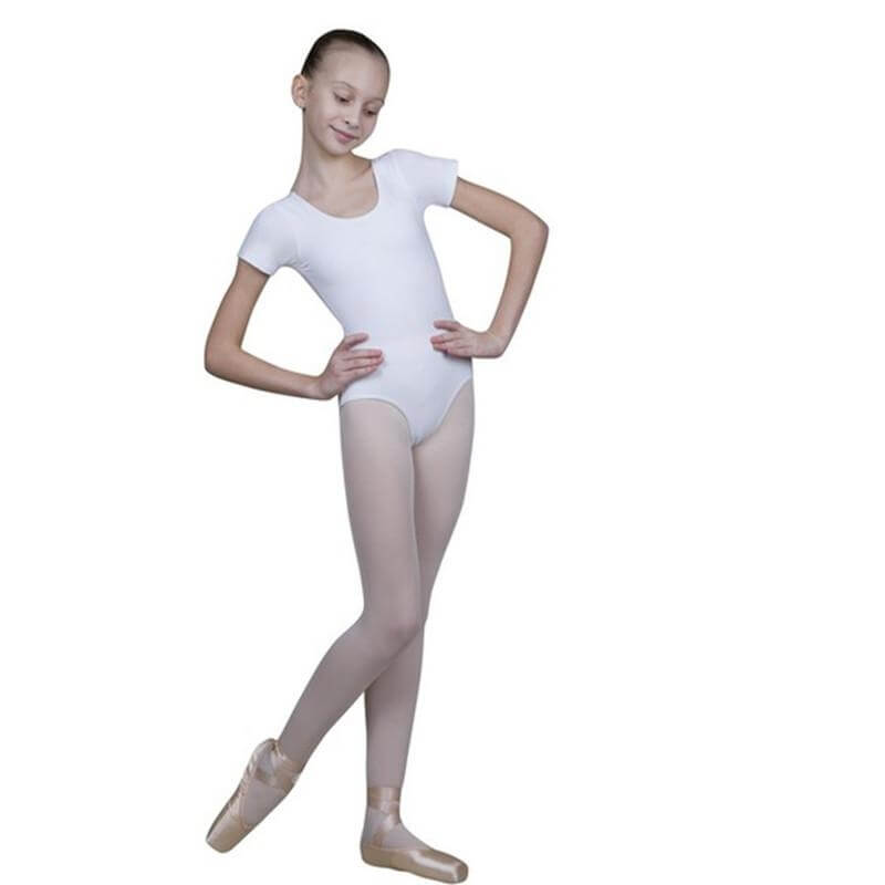 Sansha Child Short Sleeve Cotton Leotard