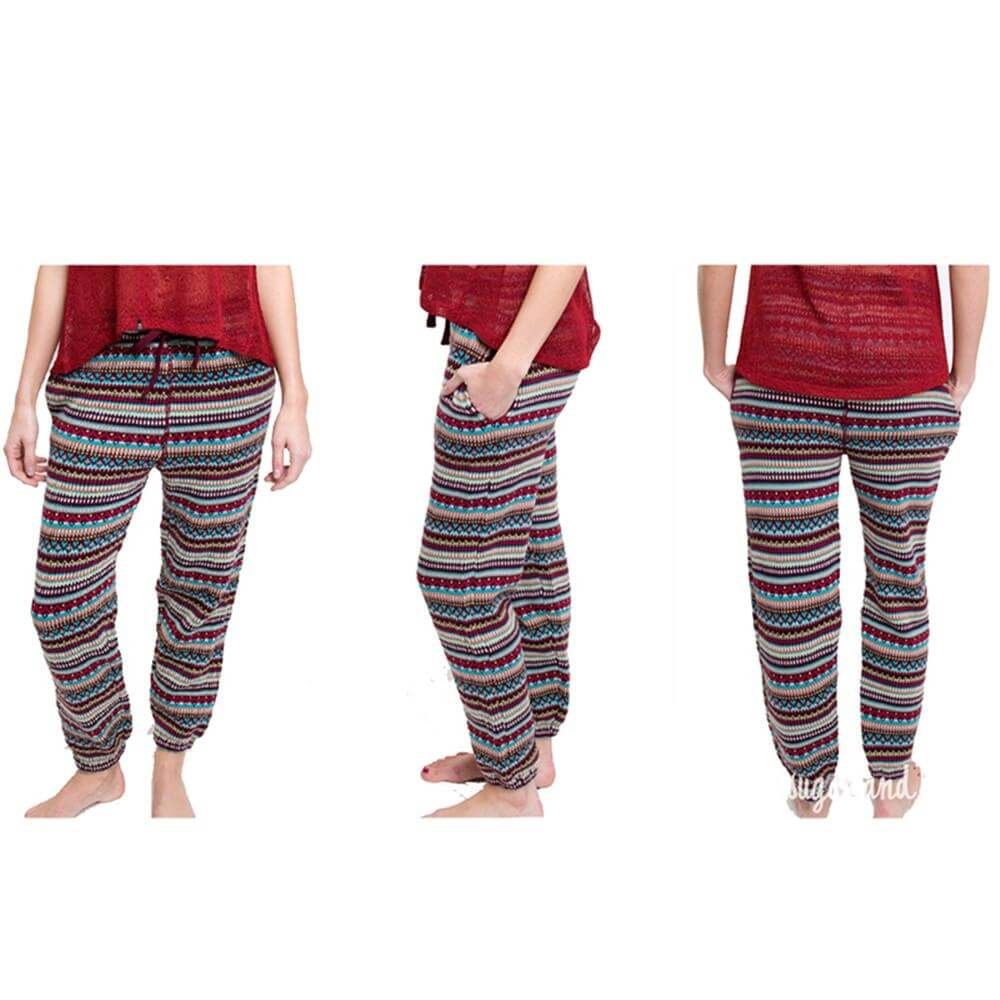 Sugar and Bruno Chalet We Dance Chill Sweatpants - Click Image to Close