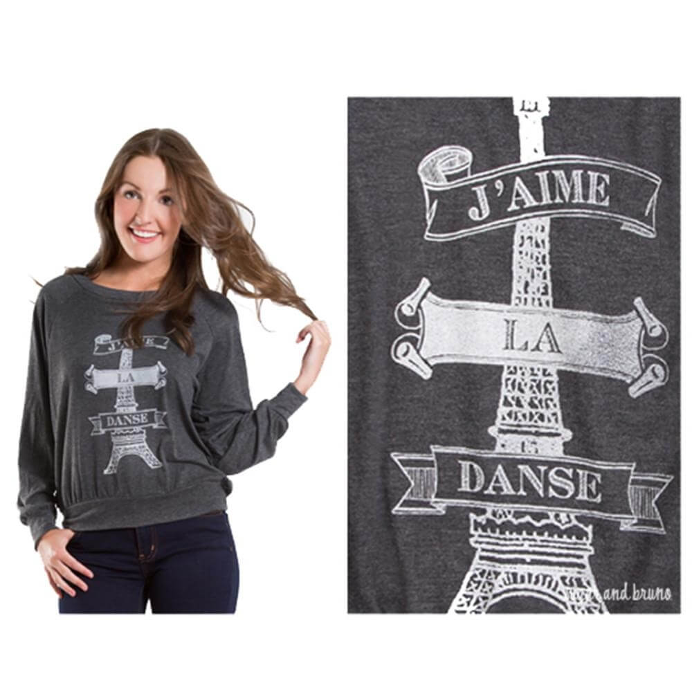 Sugar and Bruno J'aime la Danse Slouchy Raglan