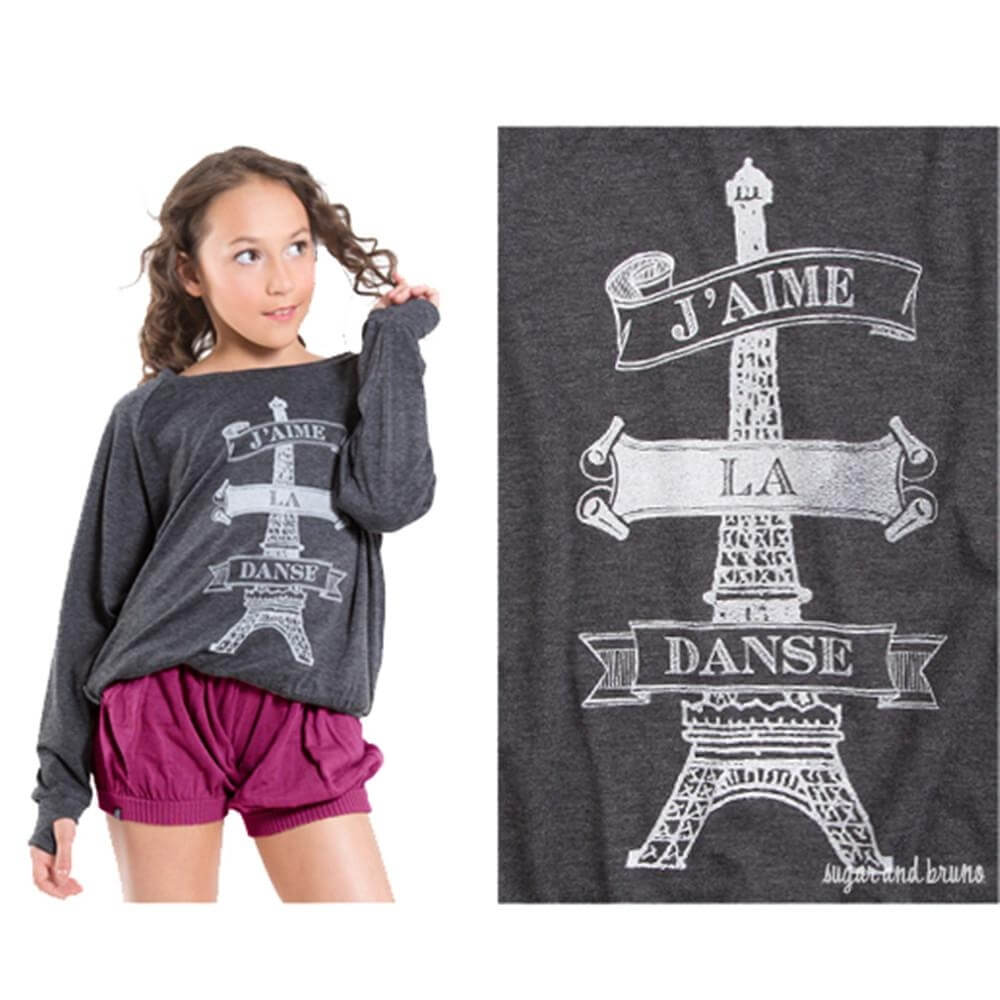 Sugar and Bruno J'aime la Danse Slouchy Youth Raglan