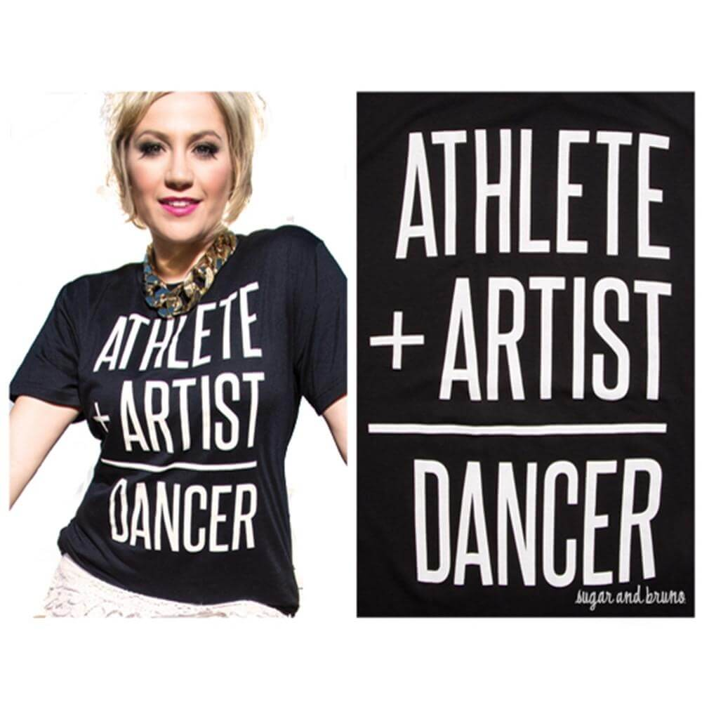 Sugar and Bruno Stacey Athlete+Artist Crewneck Tee