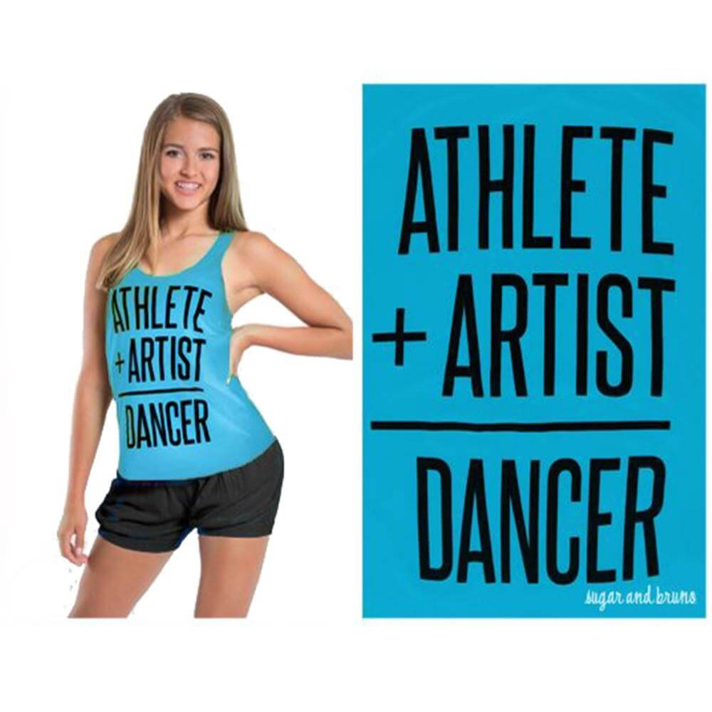 Sugar and Bruno Stacey Athelete Artist Racerback Tank