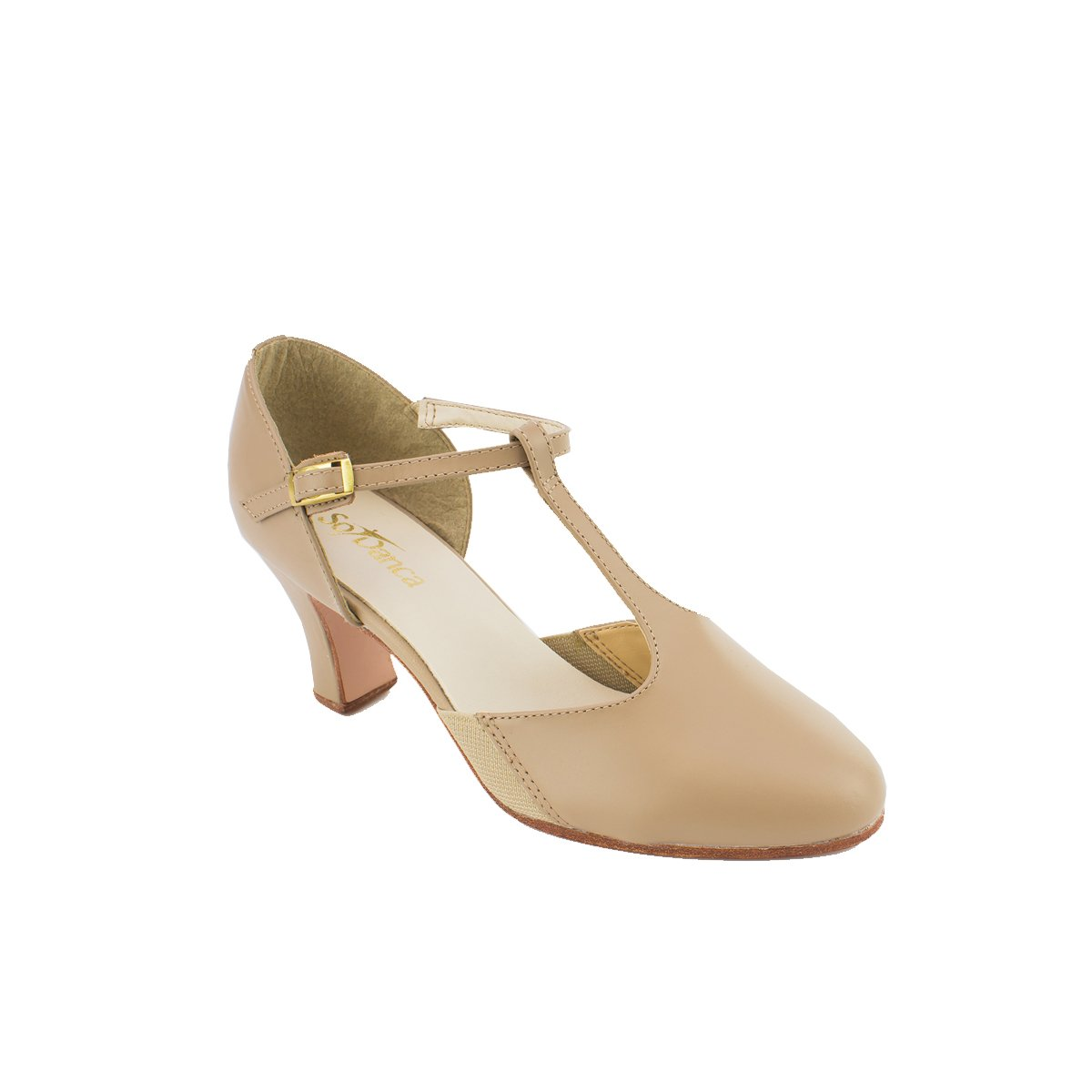 "SoDanca CH-56 Clarice 2.5"" Heel All Leather T Strap Character Shoe"