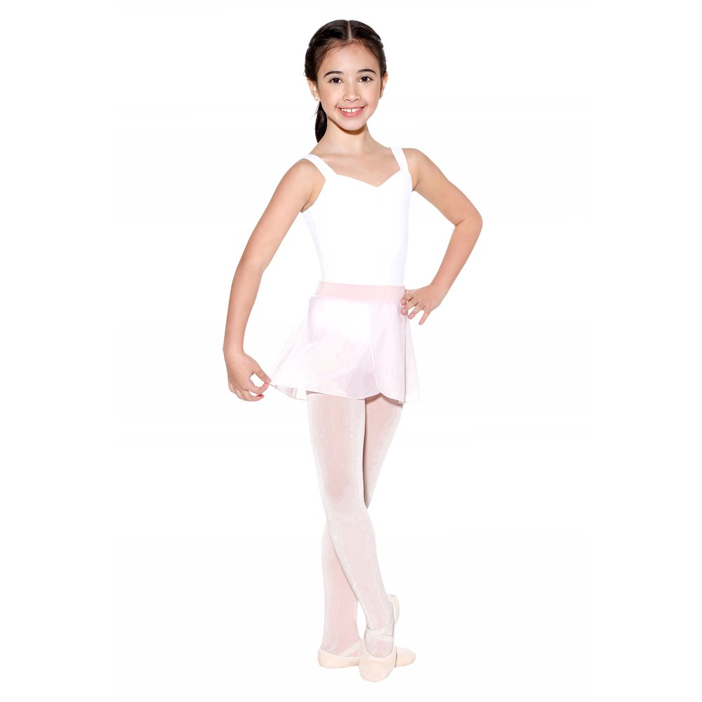 SoDanca Child Pull On Sheer Mock Wrap Skirt