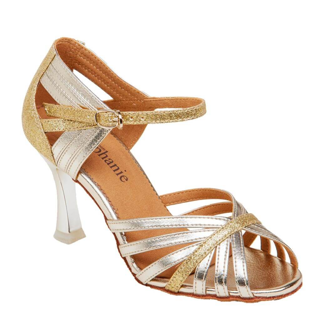 "Stephanie Ladies Latin/Rhythm 2.5"" Ballroom Shoe - Click Image to Close"