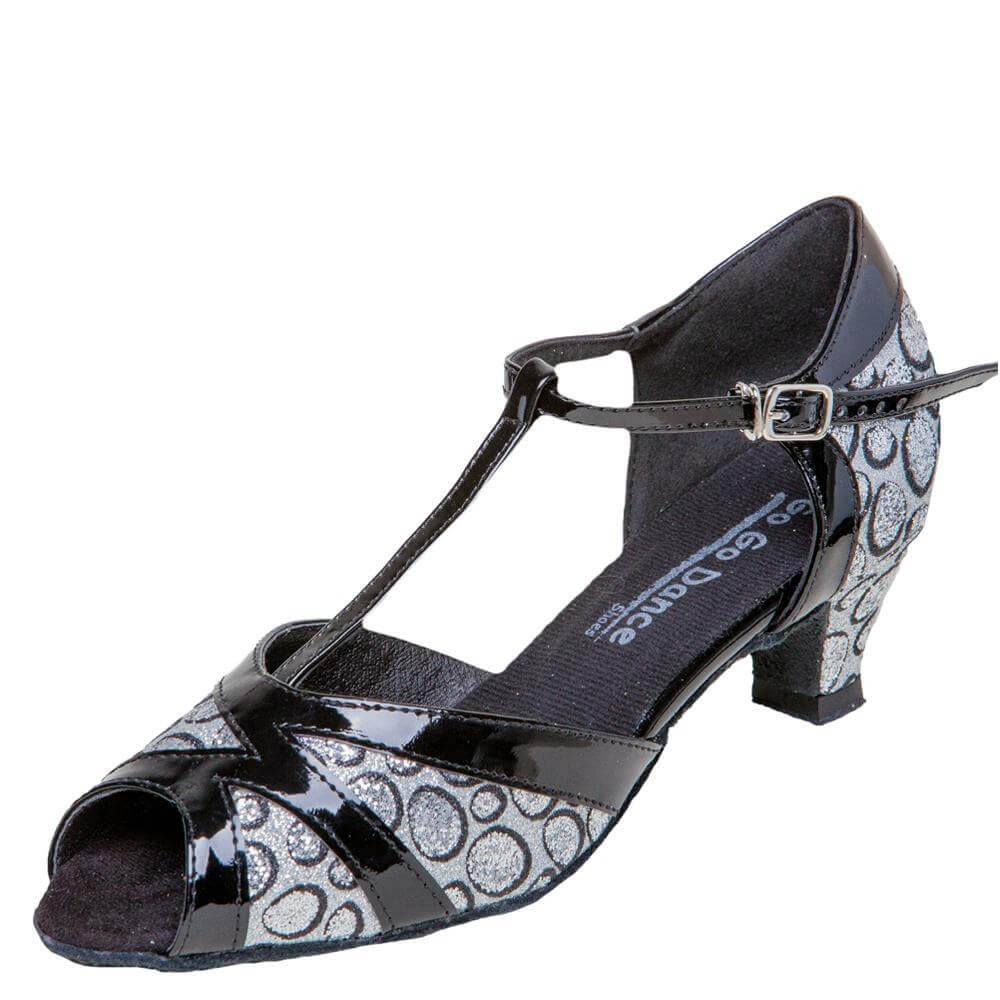 "GOGO Ladies 1.3"" Heel T-Strap Ballroom Shoe"