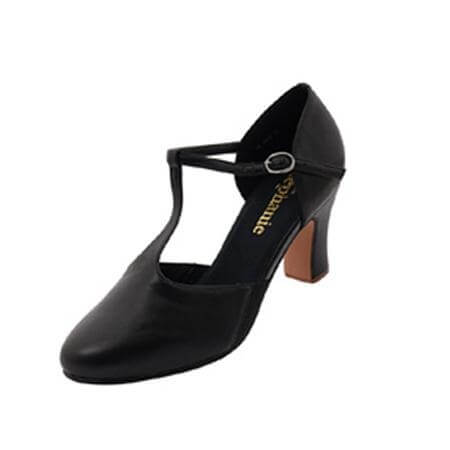 "Stephanie Ladies 2.5"" Heel T-strap Character Shoes"