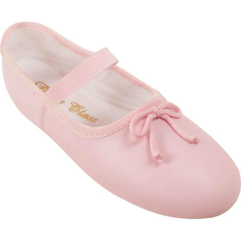 dance class® child leather-like full sole ballet shoe