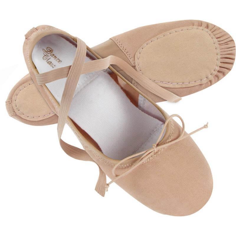 dance class® adult split-sole canvas and spandex ballet shoe