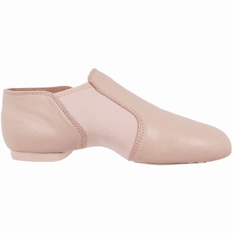Dance Class® Child Pink Leather and Spandex Jazz Boot