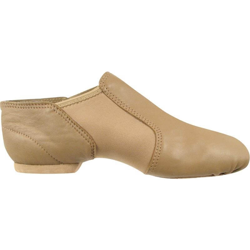 Dance Class® Leather and Spandex Gore Jazz Boot - Caramel