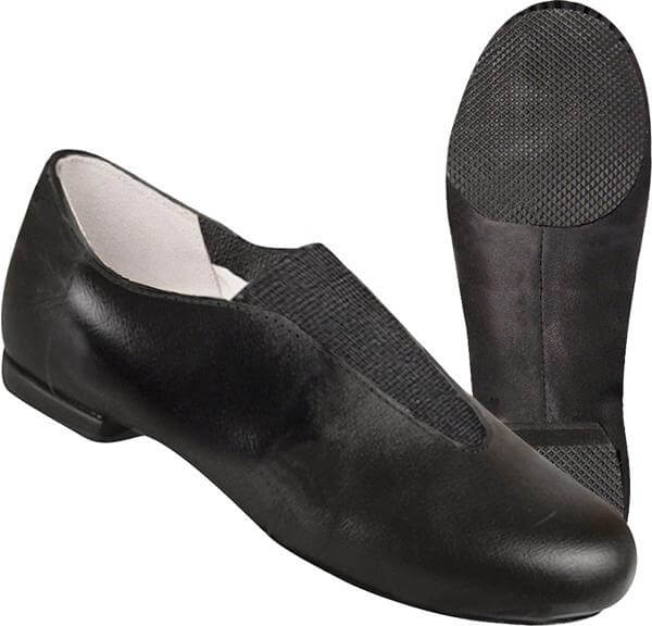 Dance Class® Adult Leather Center Gore Jazz Shoe