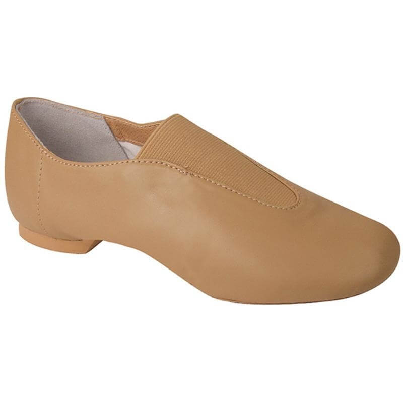 Dance Class® Child Leather Center Gore Jazz Shoe