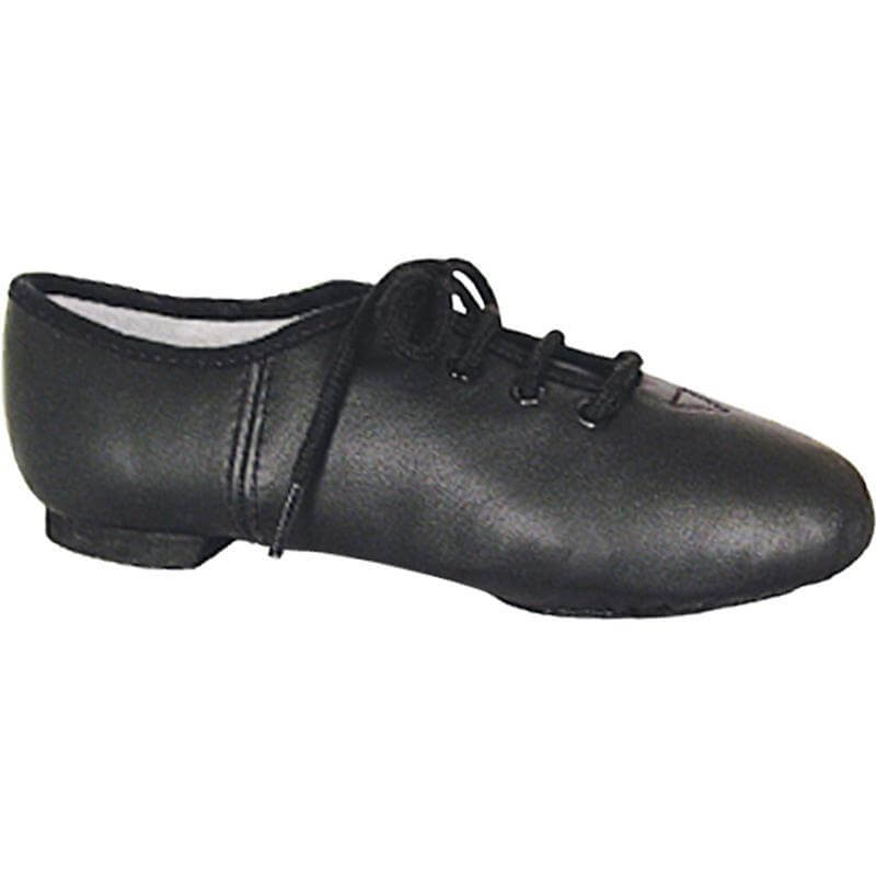 Dance Class® Child Black Leather Split Sole Jazz Shoe