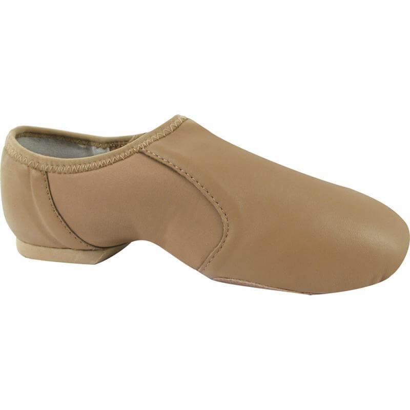 Dance Class® Child Leather Slip-on Jazz Shoe