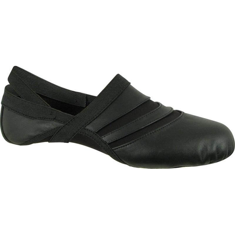 Dance Class® Child Leather and Spandex Jazz Shoe