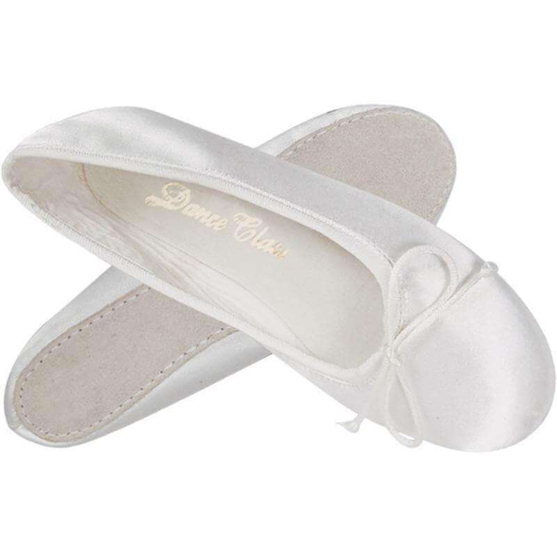 Dance Class® Adult White Satin Ballet Shoe