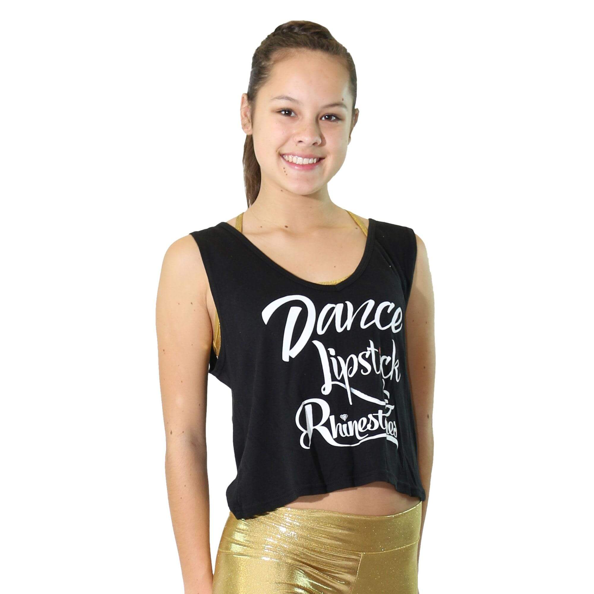 "Trendy Trends ""Dance, Lipstick, Rhinestone\"" Heart Back Tank"