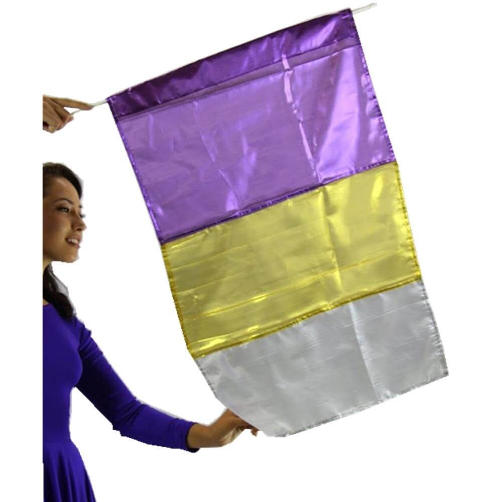 Metallic Praise Flag (Flag Only)