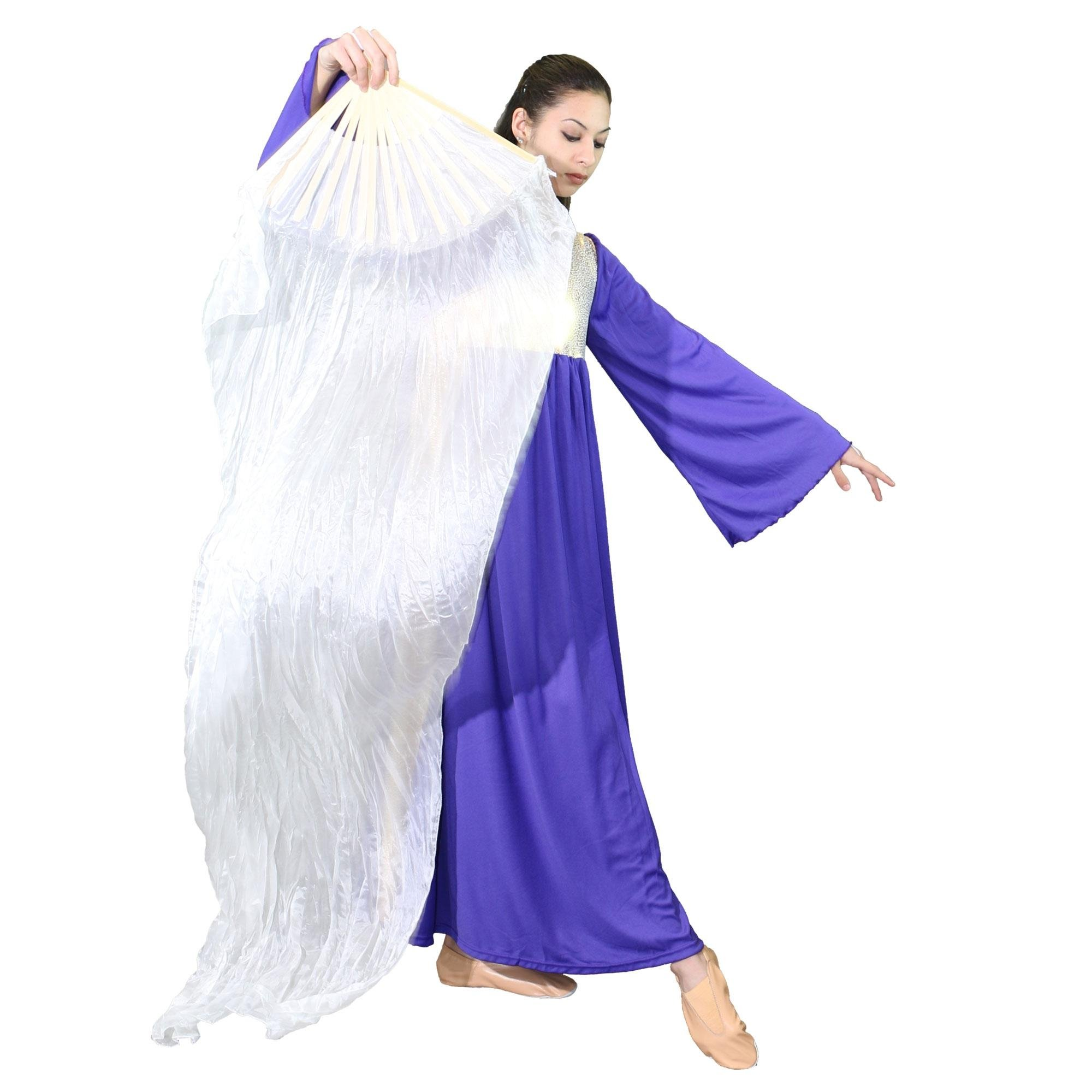 Danzcue Semi-transparent Silk Dance Fan