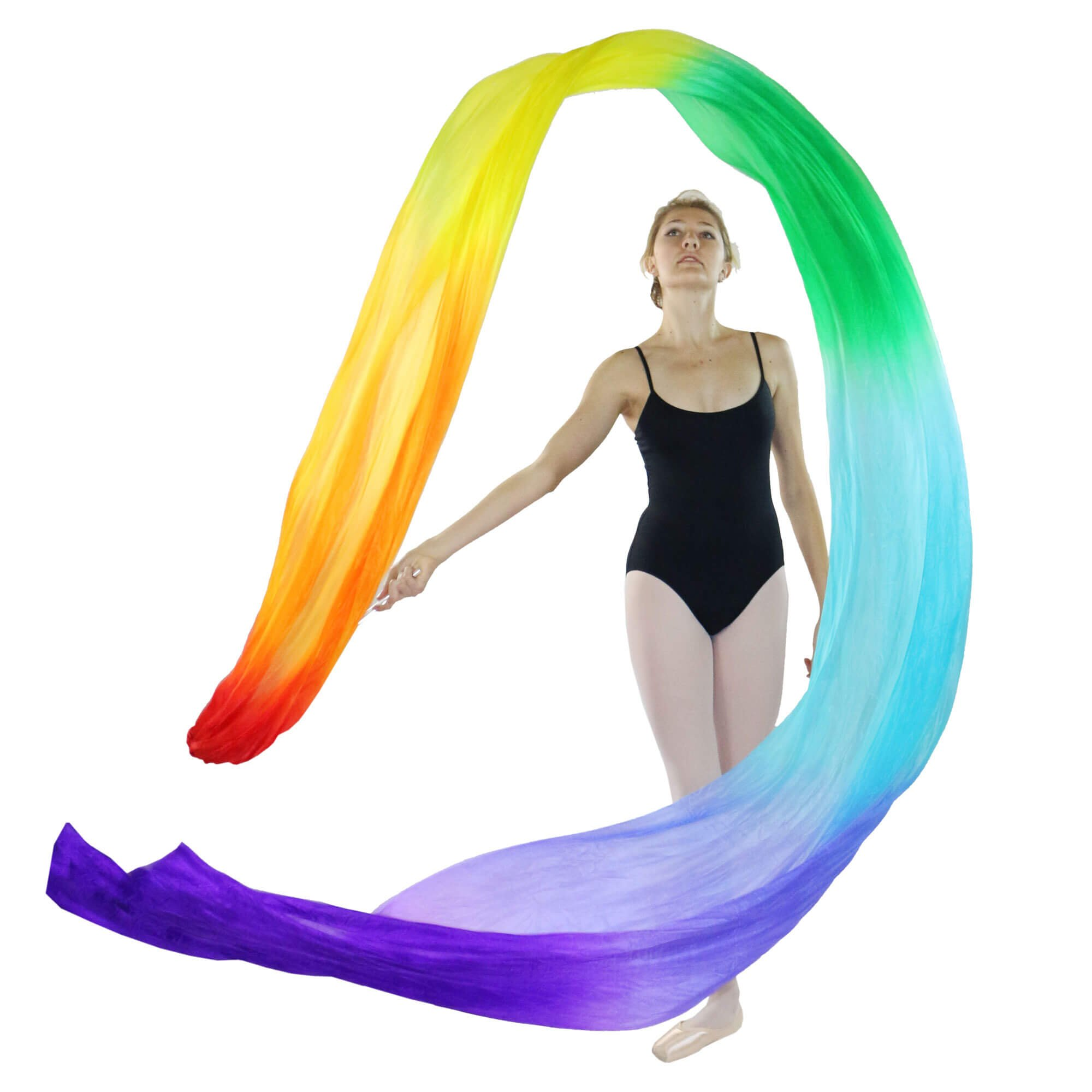 Danzcue Silk Rainbow Color Flower Streamer