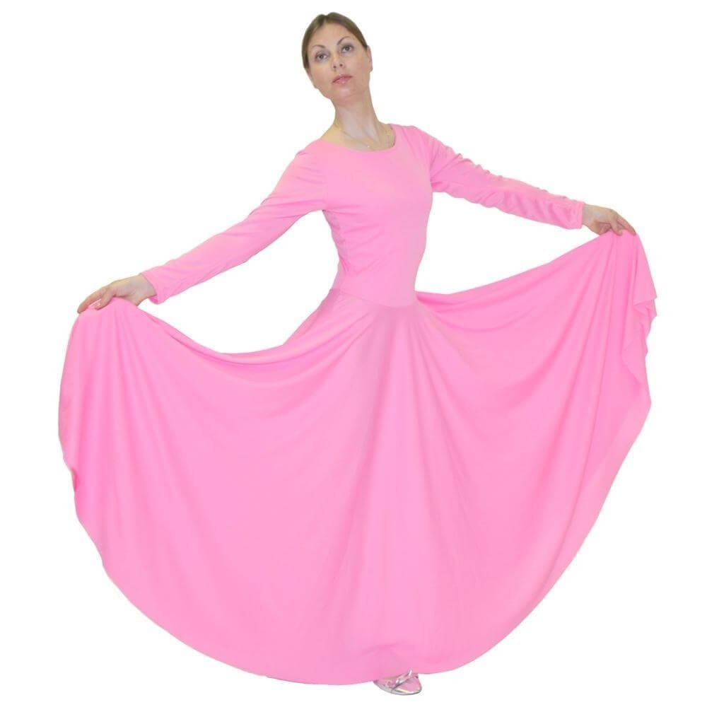 Danzcue Praise Full Length Long Sleeve Dance Dress - Click Image to Close