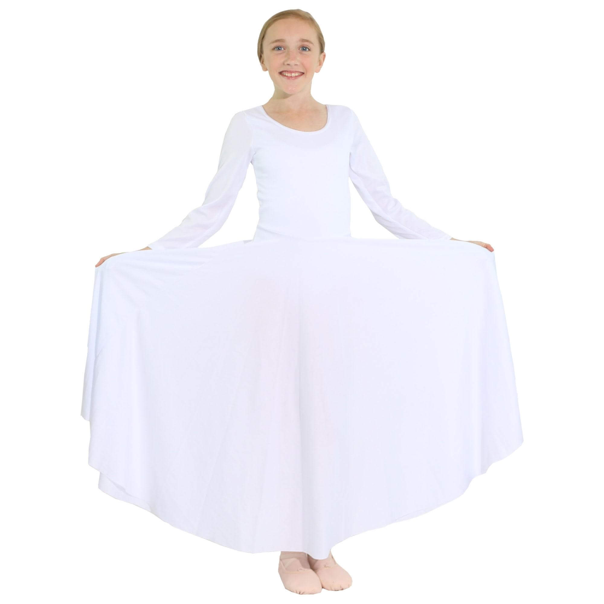 Danzcue Praise Full Length Long Sleeve Child Dance Dress [WSD4C