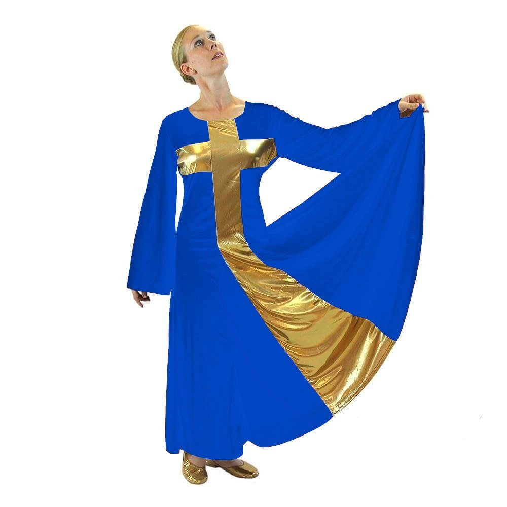 Danzcue Praise Dance Cross Long Dress - Click Image to Close