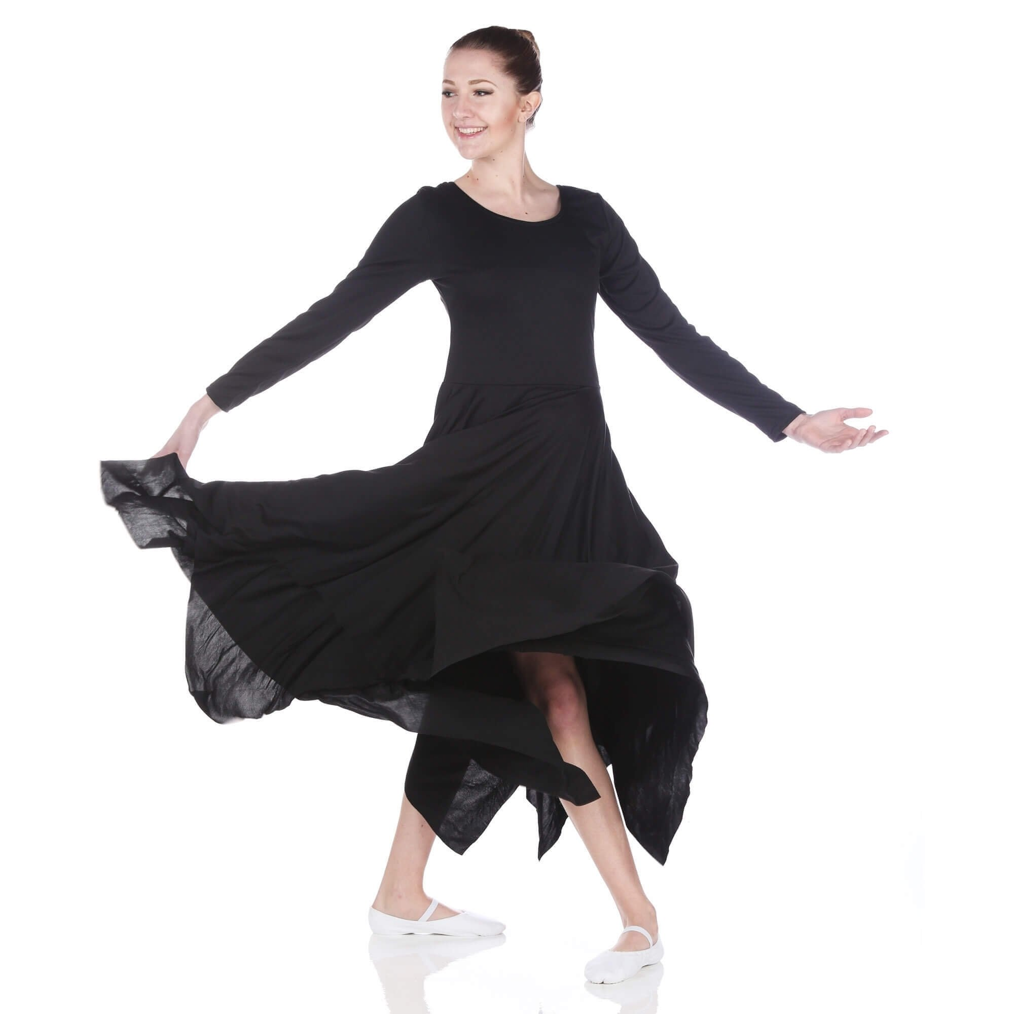 Danzcue Celebration of Spirit long sleeve dance dress